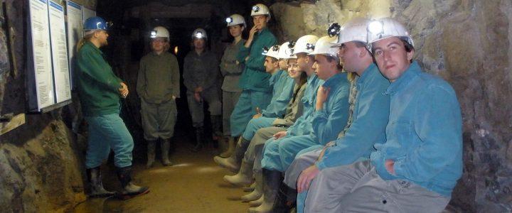 Студенти на екскурсії в Фрайберзькій шахті