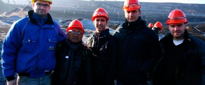 Сергій Кальчук разом із делегацією викладачів з університетів України, Росії, Німеччини, Індонезії, Китаю на вугільному кар'єрі компанії MIBRAG